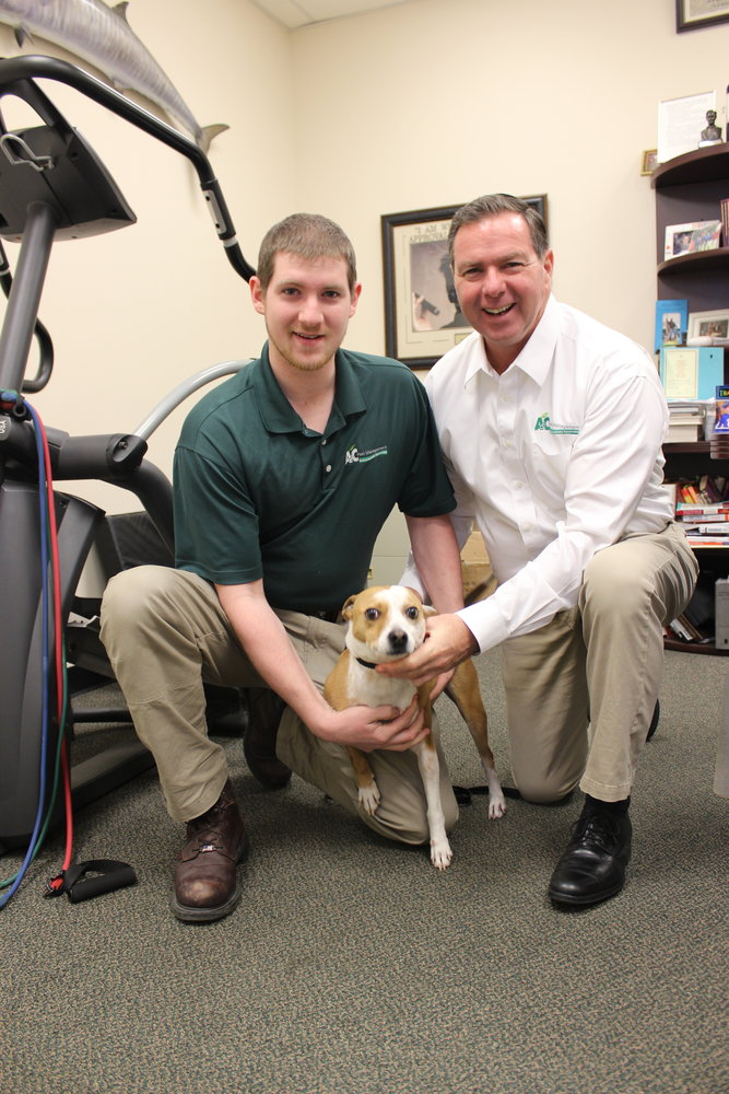 Jim Skinner, owner of A&C Pest Management in East Meadow, and his son Kevin, 21, introduced a Herald reporter to Chip, one of the business's three bed bug-sniffing Jack Russell terriers. The business recently celebrated its 50th anniversary.