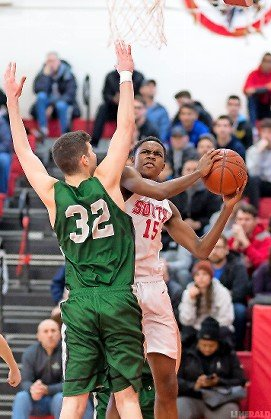 Senior Corey Powell poured in a game-high 28 points last Saturday as Valley Stream South cruised past Kennedy, 73-45, in the Nassau Class A playoffs.