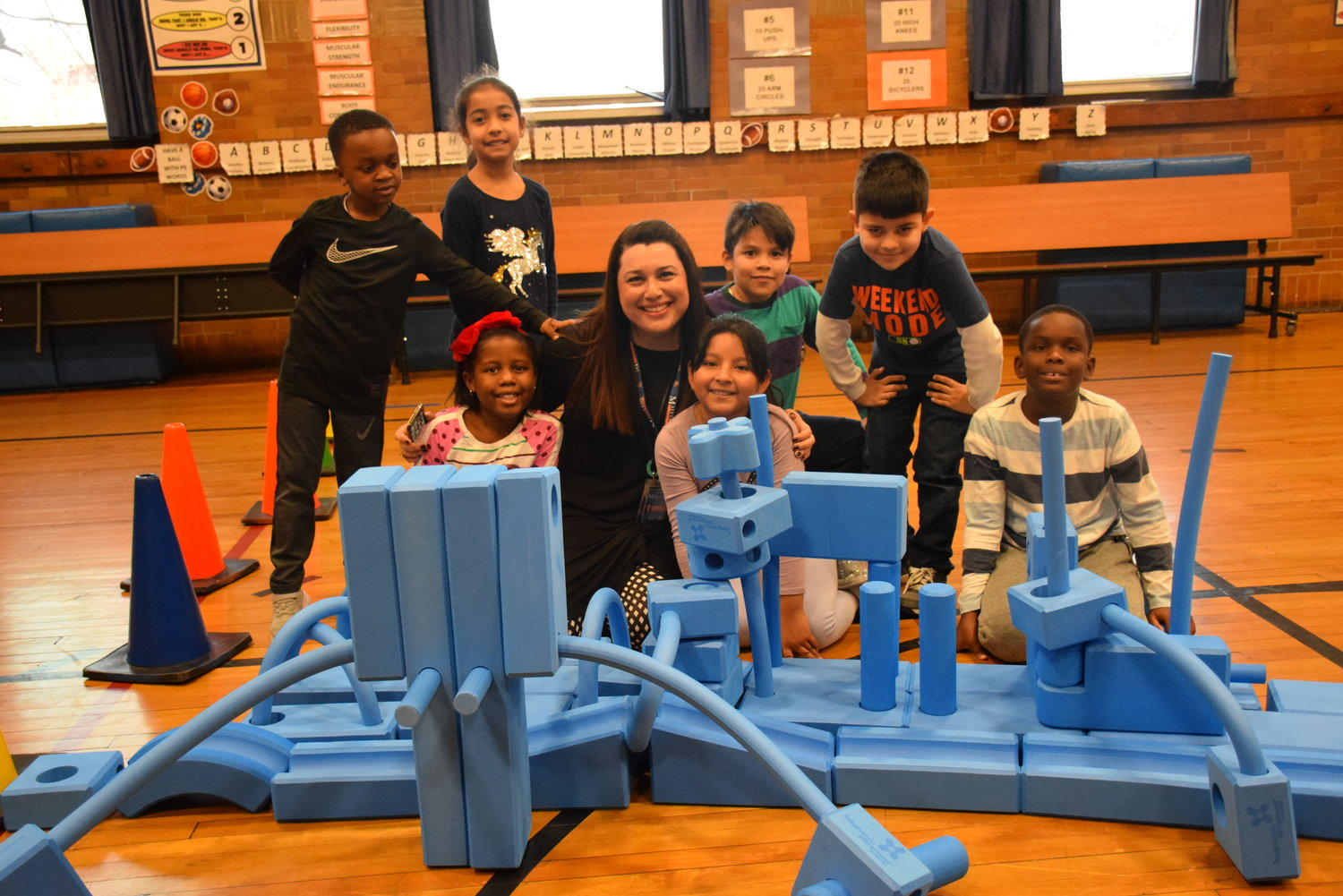 Davison Avenue Intermediate School Principal Rachel Gross joined students as they took part in national Global School Play Day.