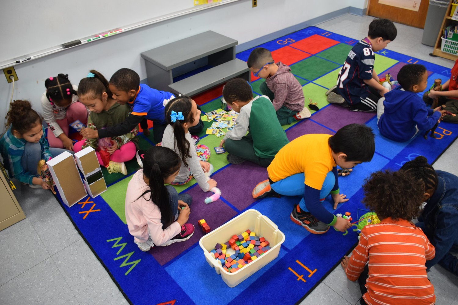 Students at Chestnut Street School took part in Global School Play Day on Feb. 6.