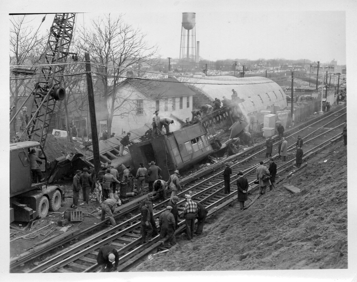 Some 29 people were killed, and more than 100 others were injured, when two Long Island Rail Road trains collided in Rockville Centre at Banks Avenue shortly after 10:30 p.m. on Feb. 17, 1950.