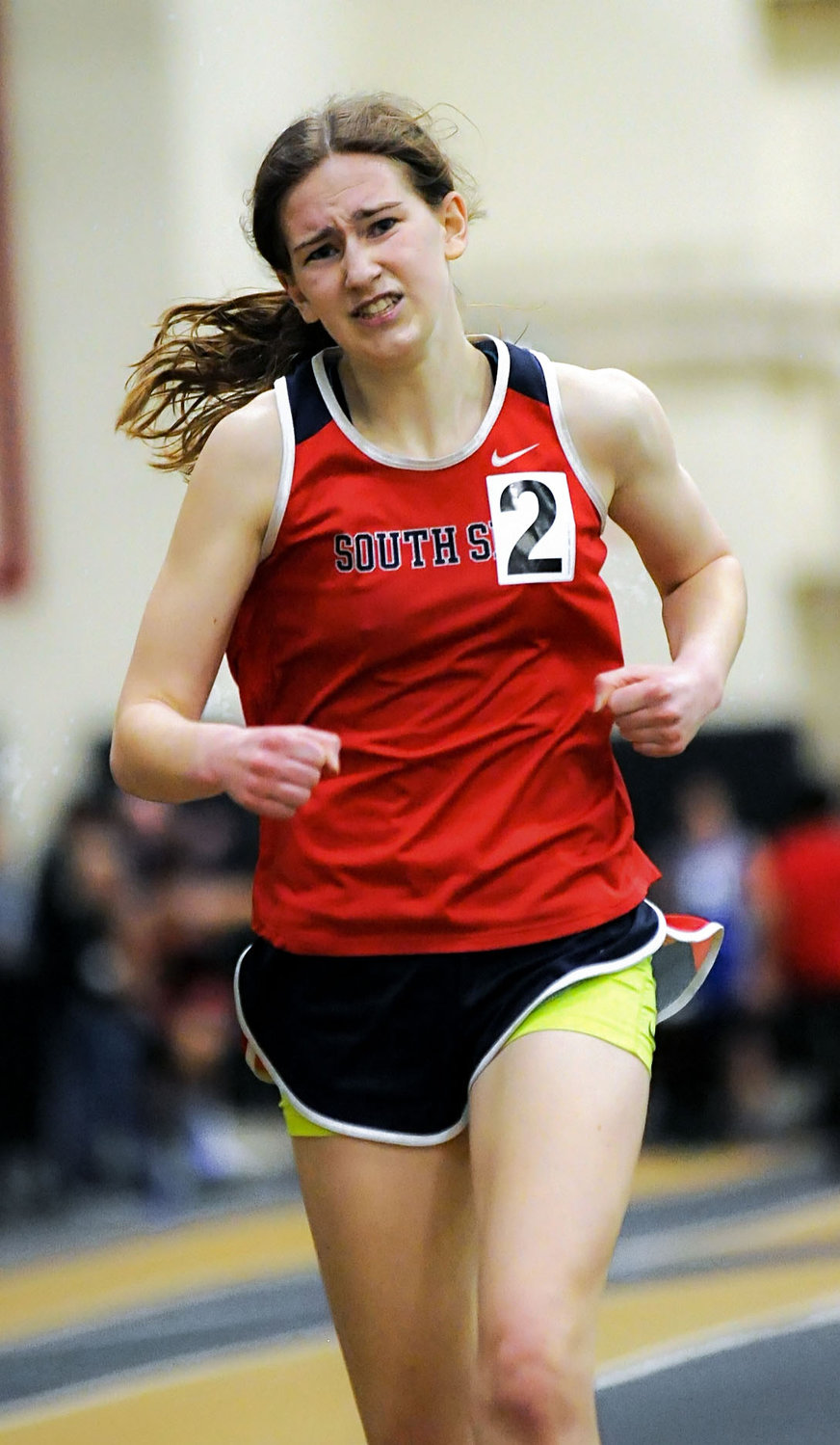 Carly Woelfel, the team's captain, was also a county champion in the 3,000-meter race.