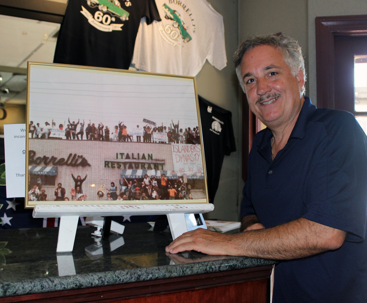 Frank Borelli remembers a spring day in 1981 when 30,000 hockey fans marched past Borelli's and down Hempstead Turnpike: The Islanders had won the second of their four Stanley Cup titles the day before.