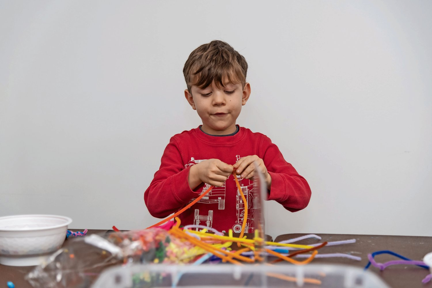Rees Capogna, 5, learned the basics of coding and essential STEAM skills at an interactive children's workshop at the Gold Coast Library in Glen Head on Feb. 14.