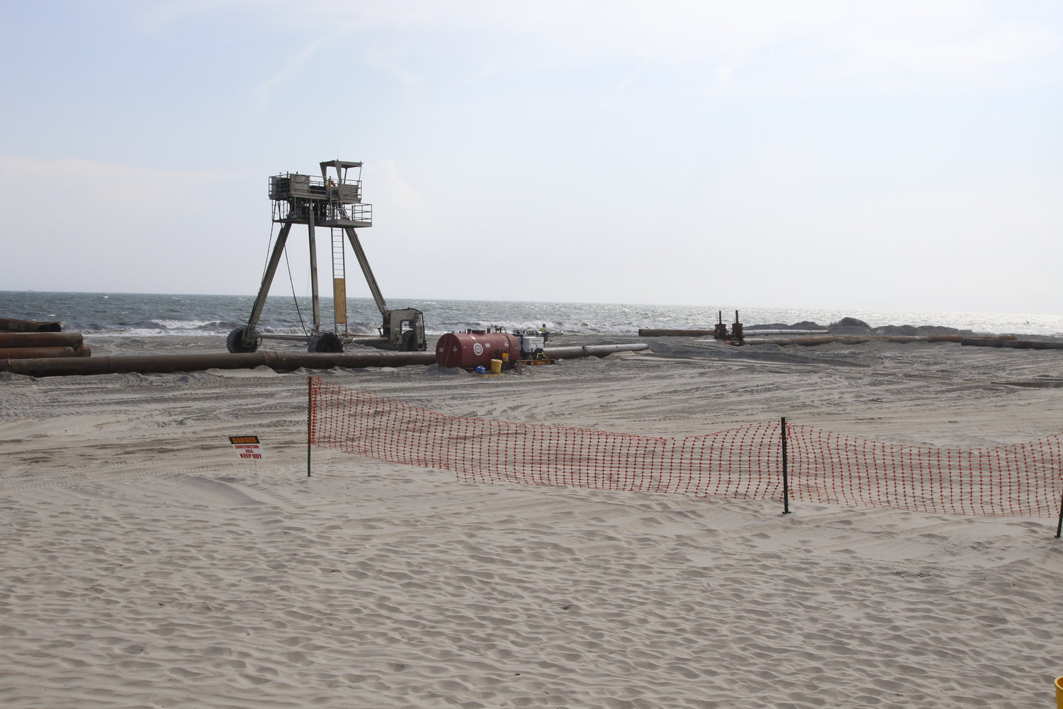 The Army Corps of Engineers will resume its sand-replenishment project in Long Beach next month.