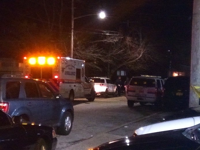 Nassau County police and paramedics arrived at the scene on Thomas Place on Feb. 21.