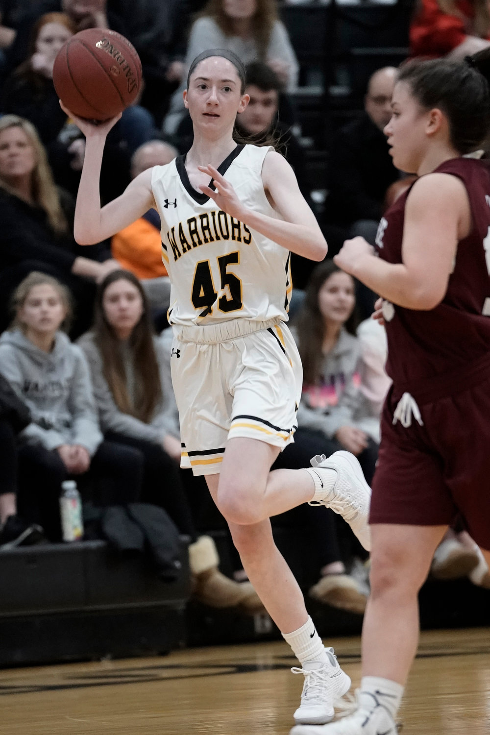Wantagh's Morgan Flaherty had a huge effort last Friday night with 18 points in the Lady Warriors' 53-45 home playoff win over North Shore.