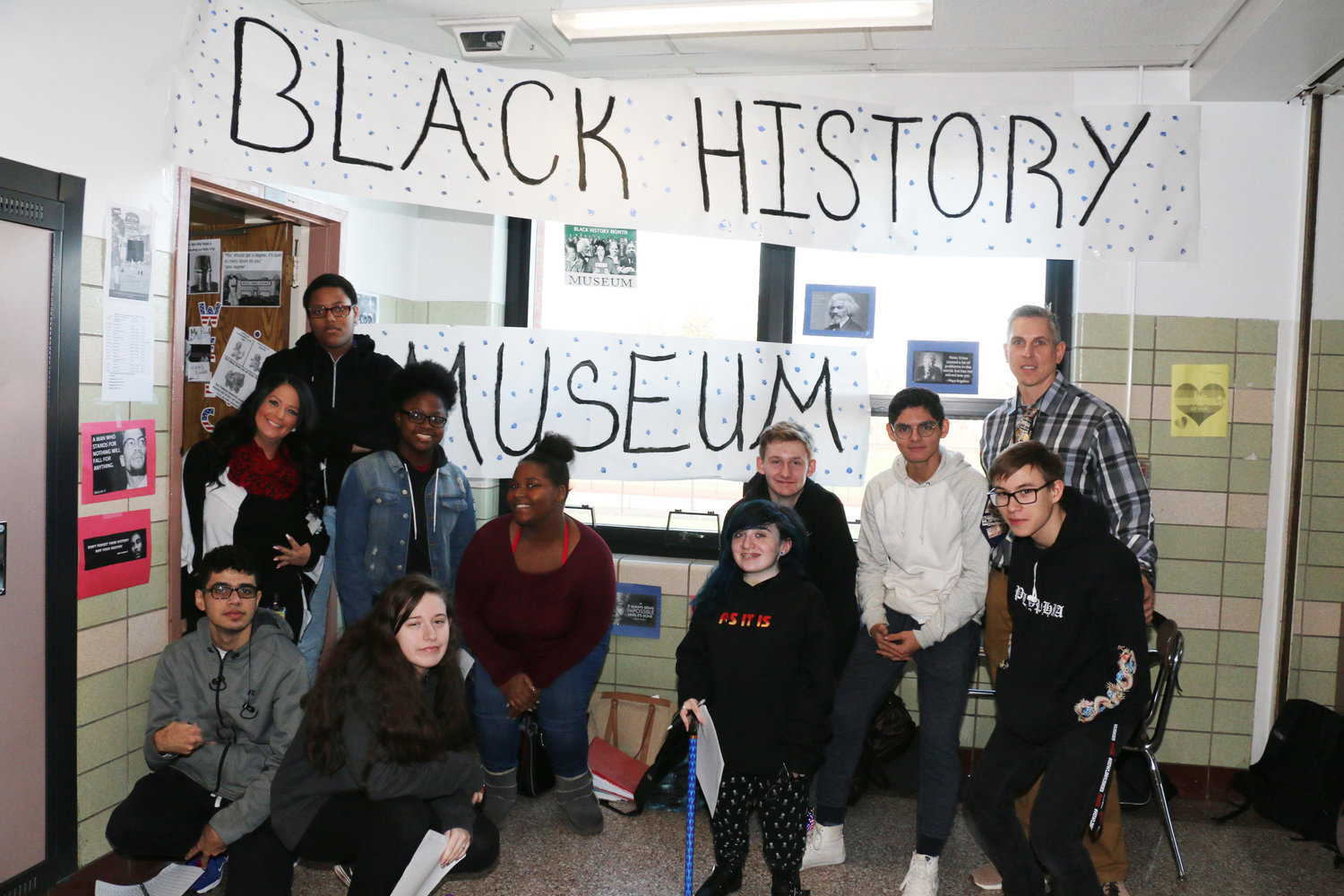 West Hempstead High School students gathered for its annual Black History museum on Feb. 14.