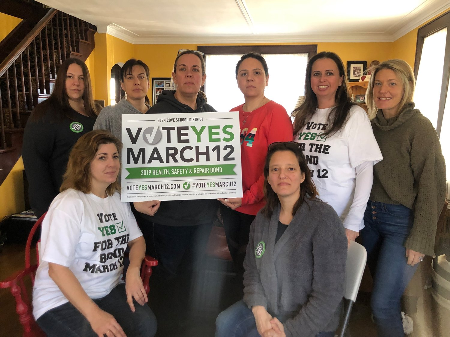 Vote Yes March 12 are urging voters to approve the $84.6 million bond to renovate and improve all six Glen Cove schools.