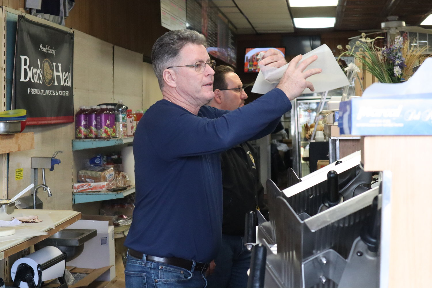 Gerry Parker, another friend of the deli's staff, helped with operations during its final day in business. He also started an online fundraiser to help the owners deal with back tax payments and renovations, but it was too late to save the business from eviction.