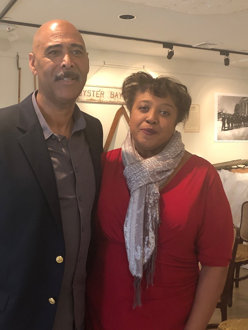 Denice Evans-Sheppard invited Vann Johnson to share his father's story at the Oyster Bay Historical Society during Black History Month.