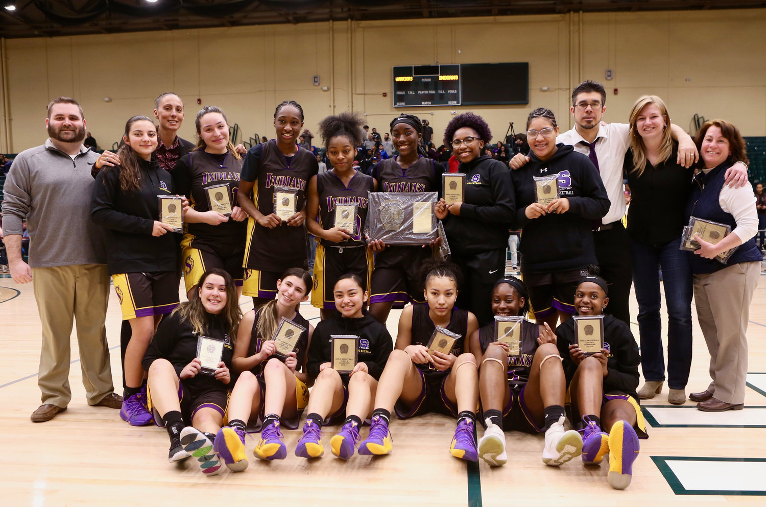 The Lady Indians made history last Sunday night, defeating Wantagh 62-46 at Farmingdale State College to claim their first-ever Nassau County championship.