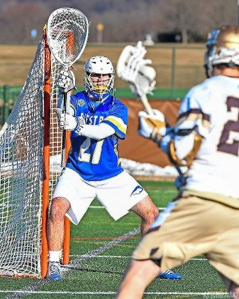 Former Wantagh standout Robert Casey made 14 saves and picked up a victory in his first collegiate start Feb. 9 as the Pride edged Lehigh, 4-3.