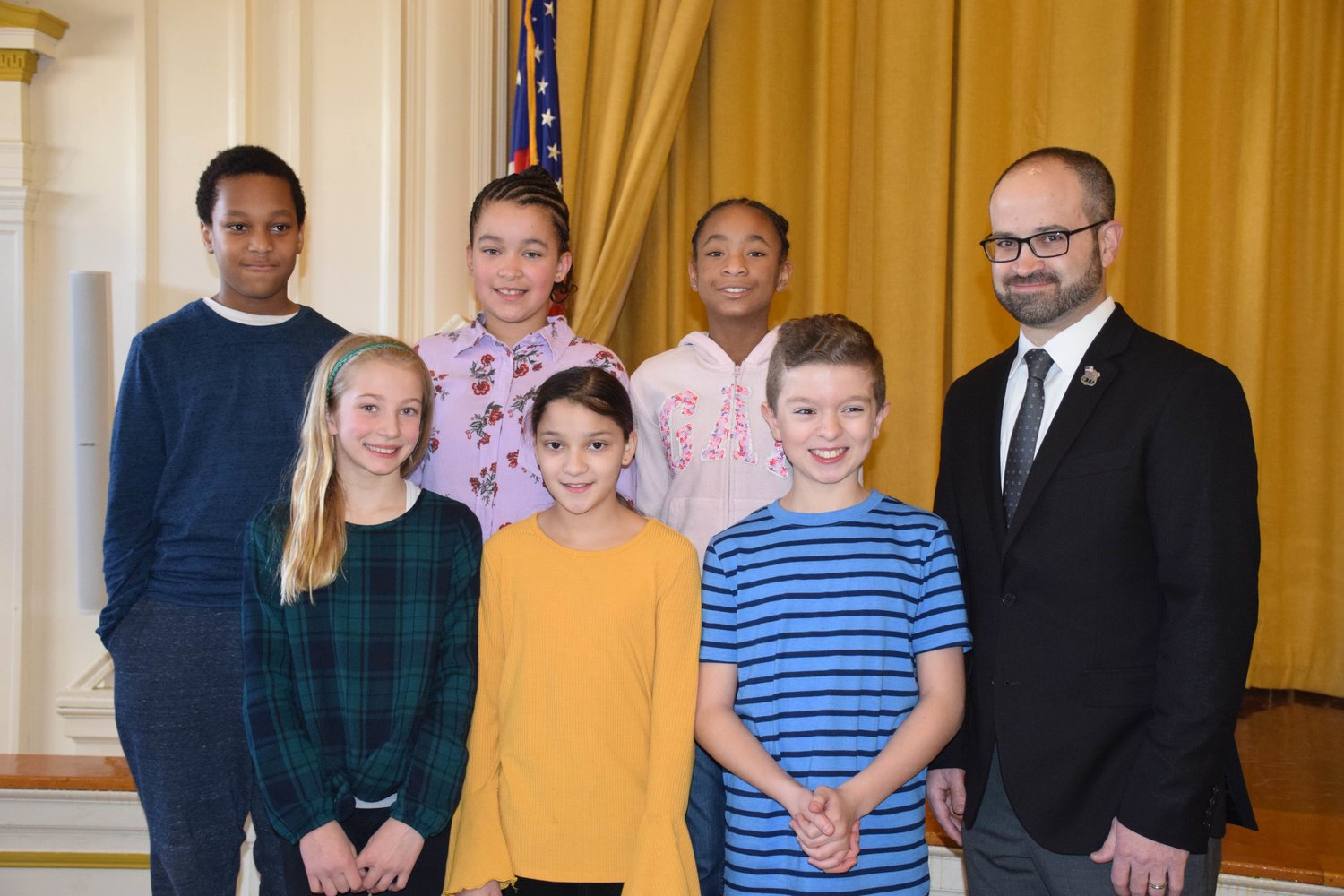 State Assemblyman Ed Ra discussed the basics of politics with students at George Washington Intermediate School on Feb. 25.