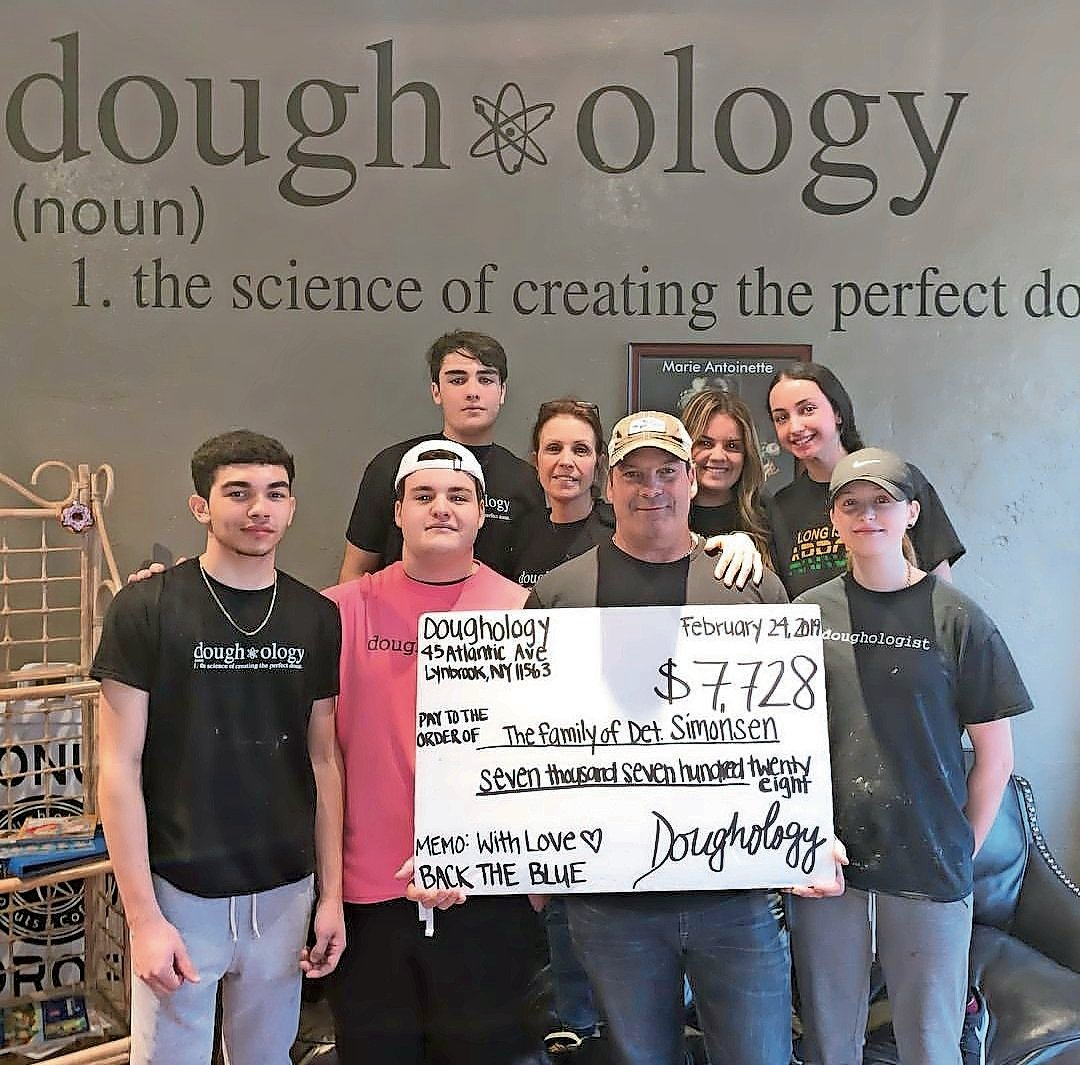 Doughology collected more than $7,000 for slain Det. Brian Simonsen's family.