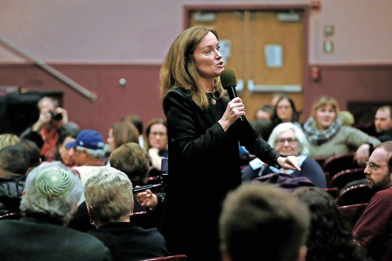 U.S. Rep. Kathleen Rice visited South Side High School on Feb. 28 to address concerns in her district.