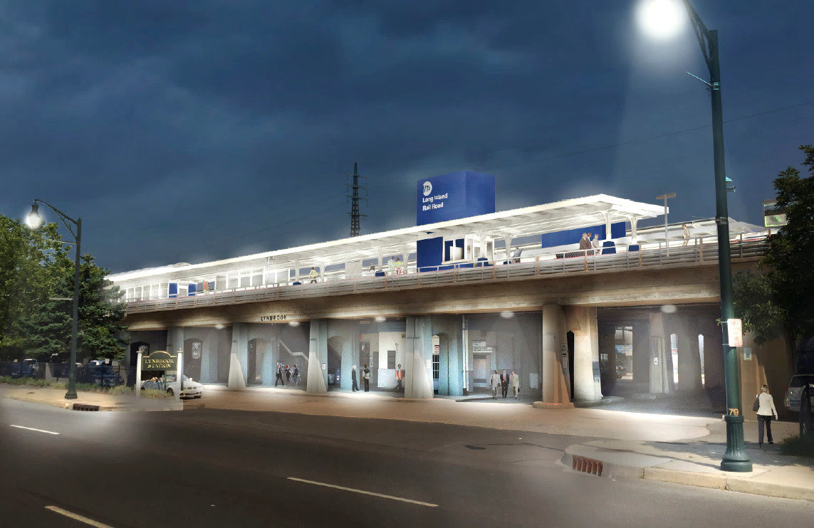 A rendering of what the exterior of the station will look like.