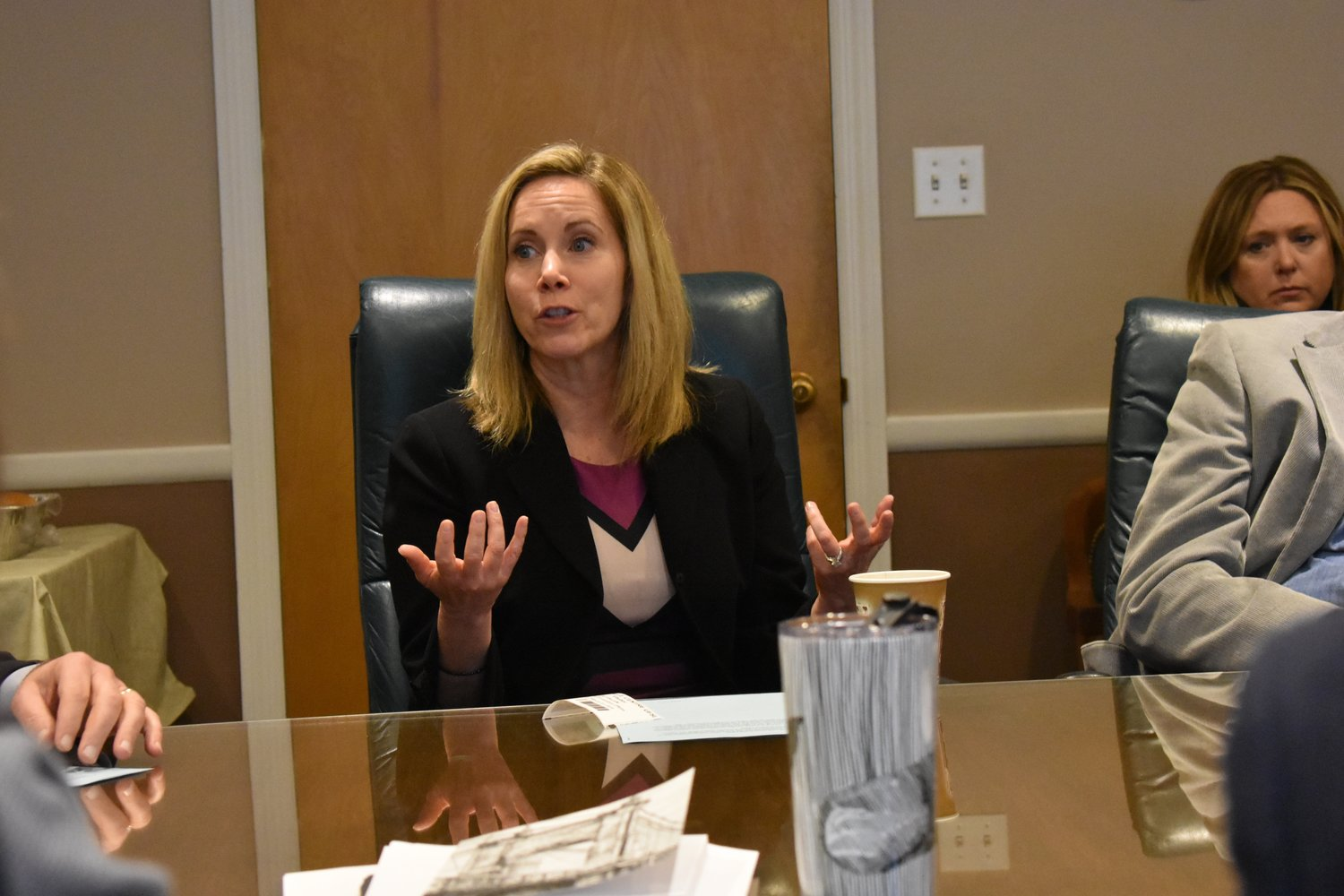 Hempstead Town Supervisor Laura Gillen noted that the town enacted a one-year moratorium on weed sales within its borders, and a ban on smoking it in town parks and facilities.