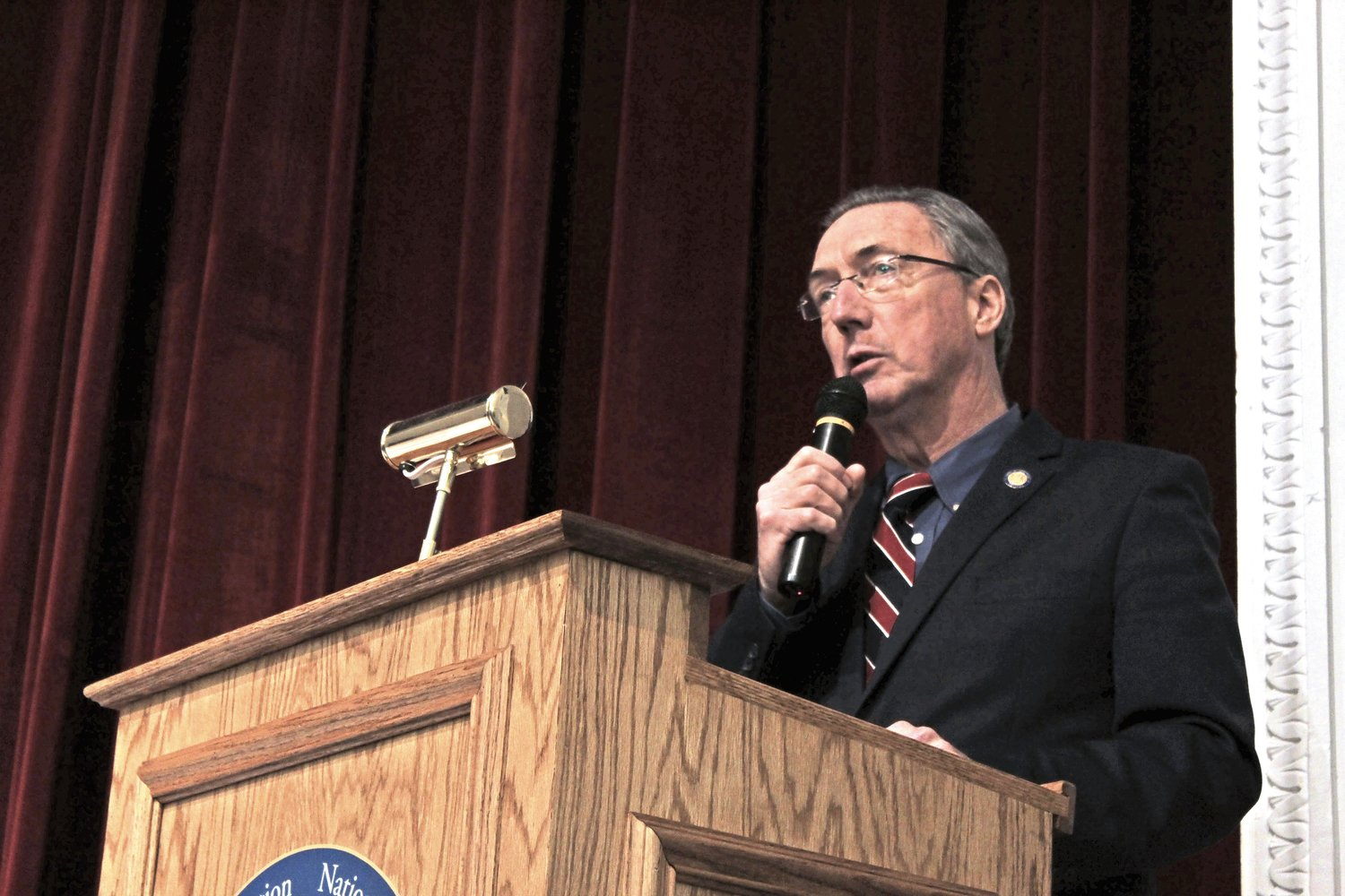 State Sen. Jim Gaughran invited local, state and federal officials to the town hall to address the rate hikes that local residents have seen under New York American Water.