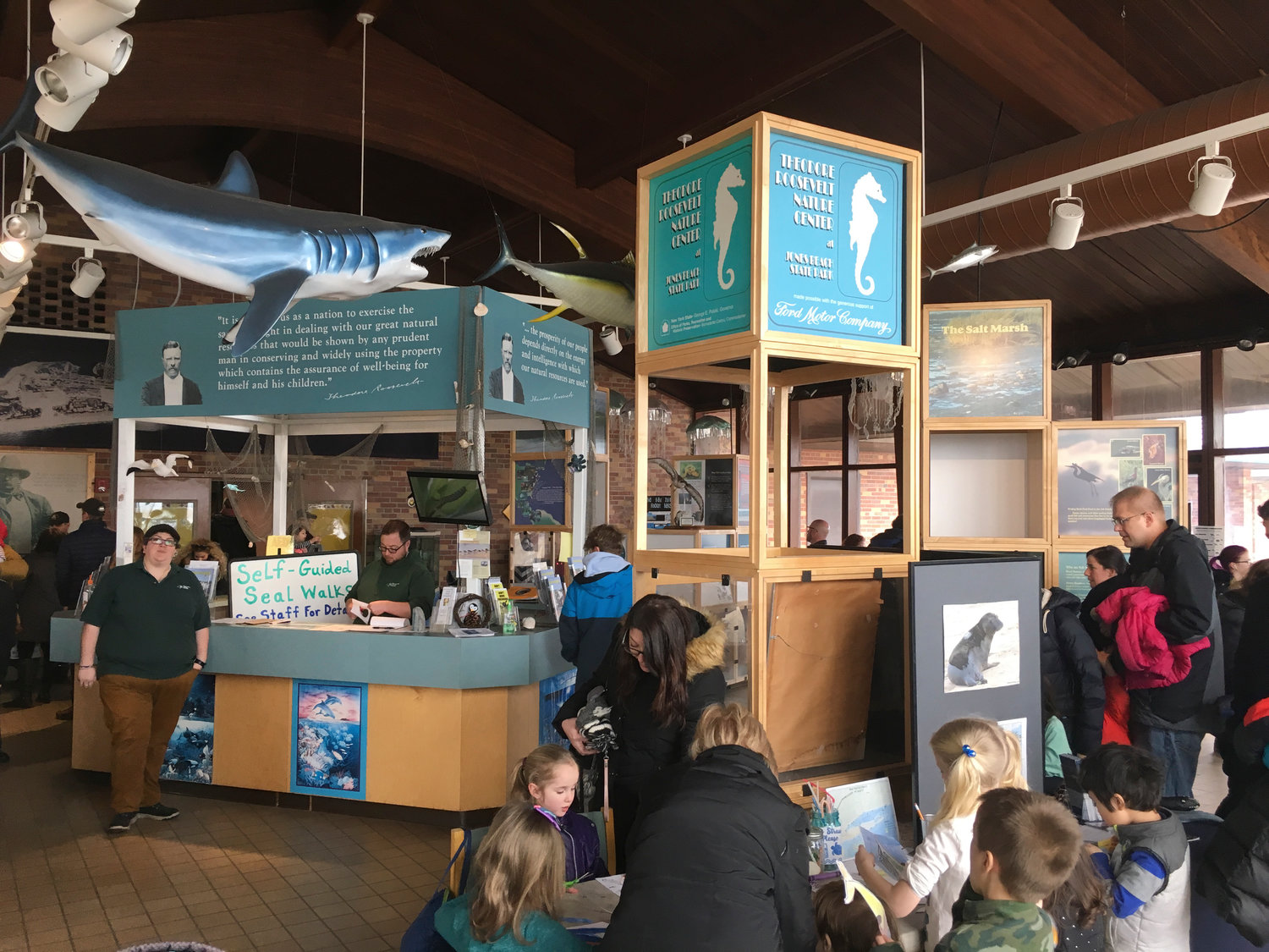 The Jones Beach Nature Center was packed full of children, their parents and caregivers on Feb. 23, for Marine Mammals Celebration Day.