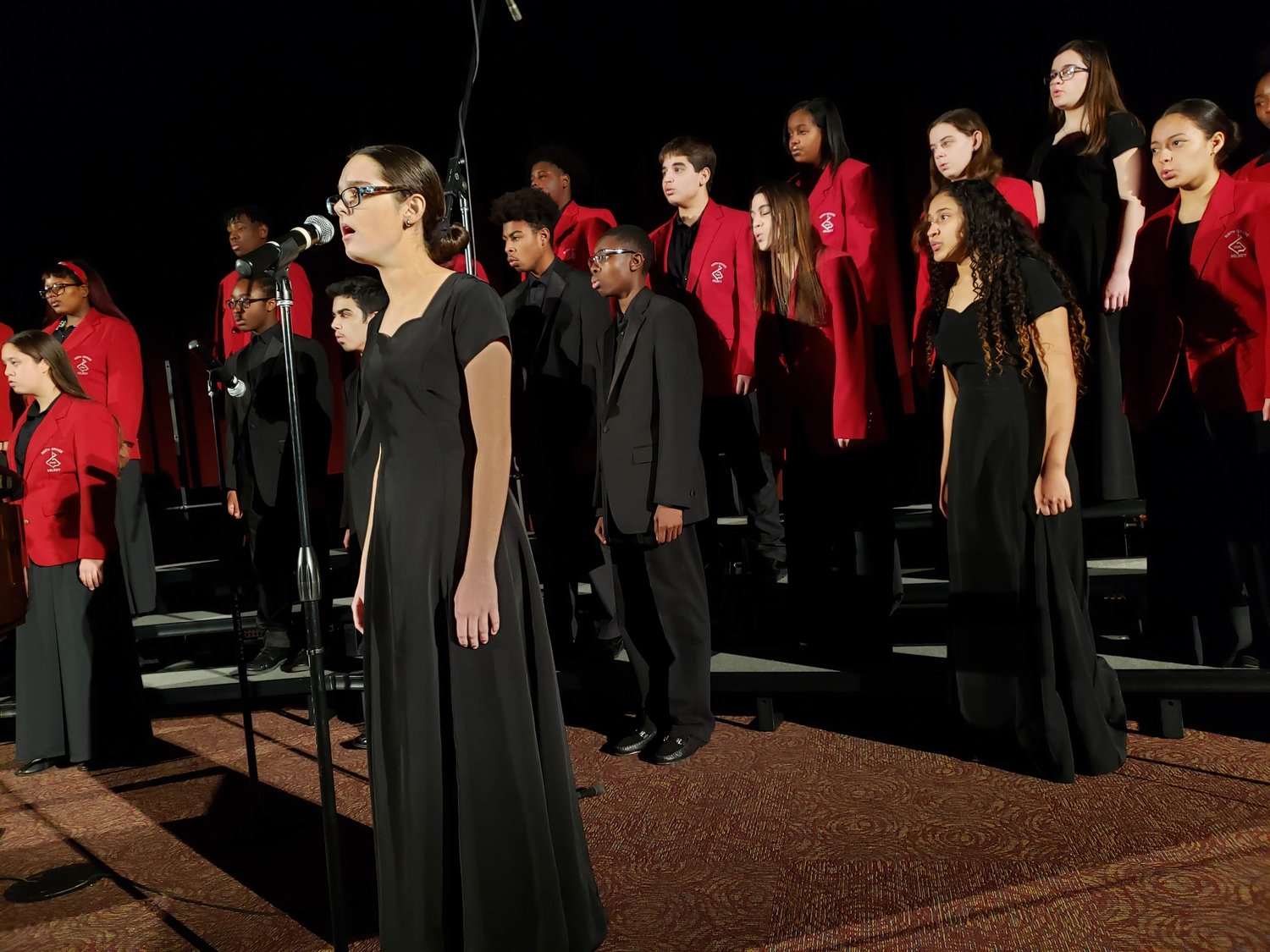 "The Freeport High School Select Chorale performed an opera piece — ""Summertime."""