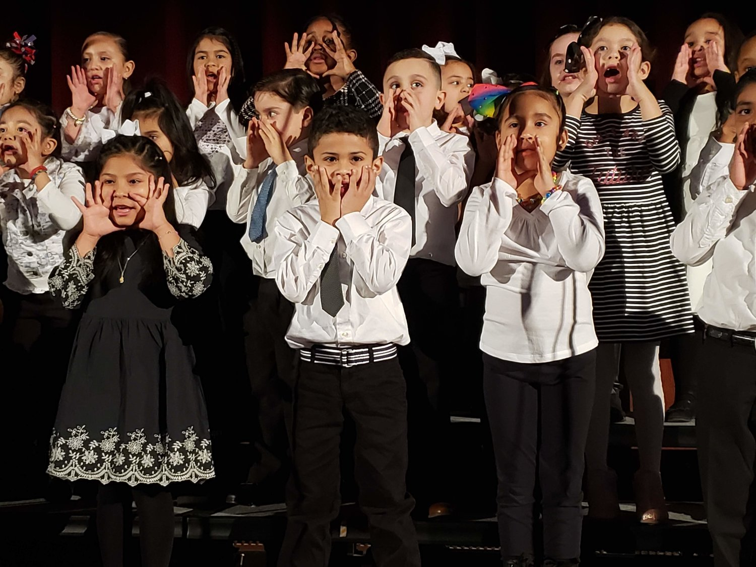 The Kindergarten Chorus from Columbus Avenue School performed a song dedicated to civil rights activities Dr. Martin Luther King, Jr..