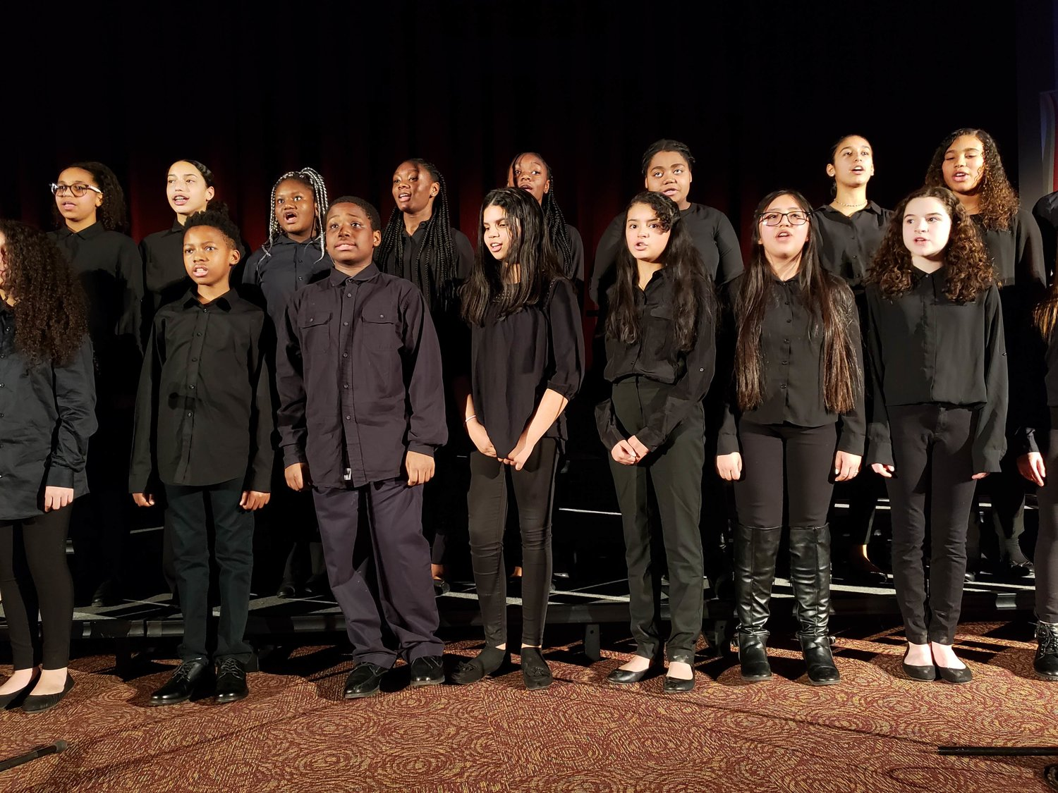 "J.W. Dodd Middle School's Select Chorus performed, ""Every Time I Feel the Spirit,"" an African-American spiritual dating to before the US Civil War."