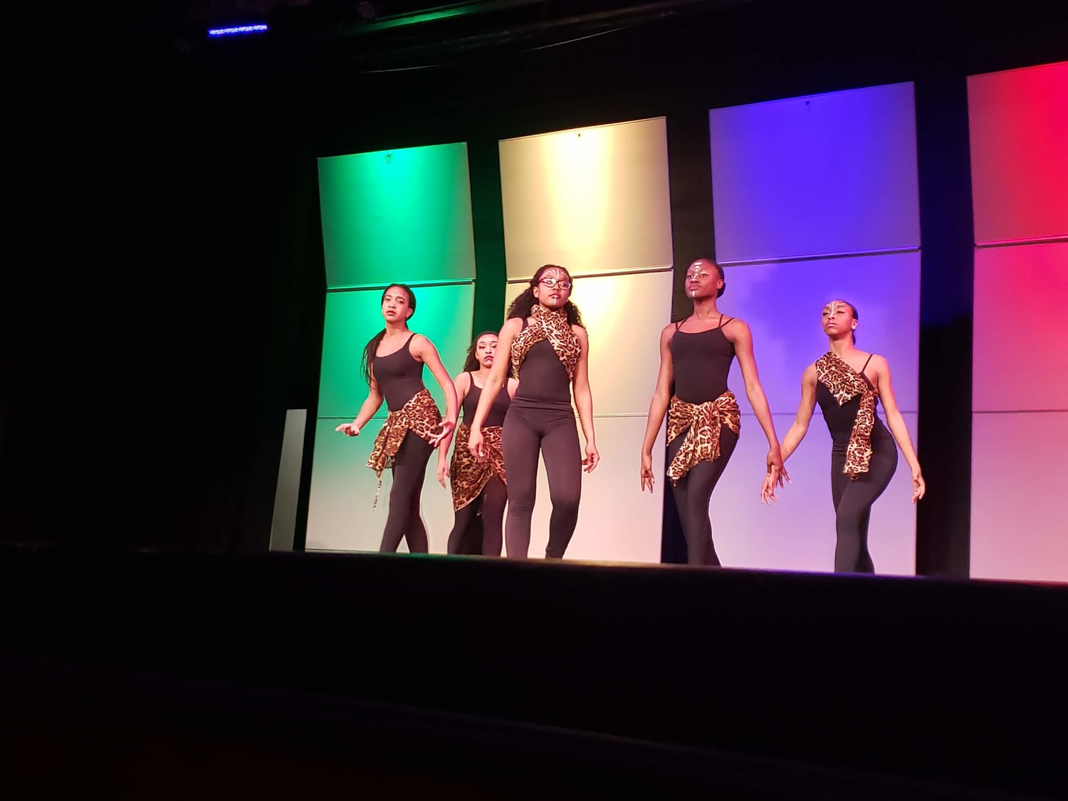 "Freeport High School's Color Guard team danced to ""The Groove You Liked."""