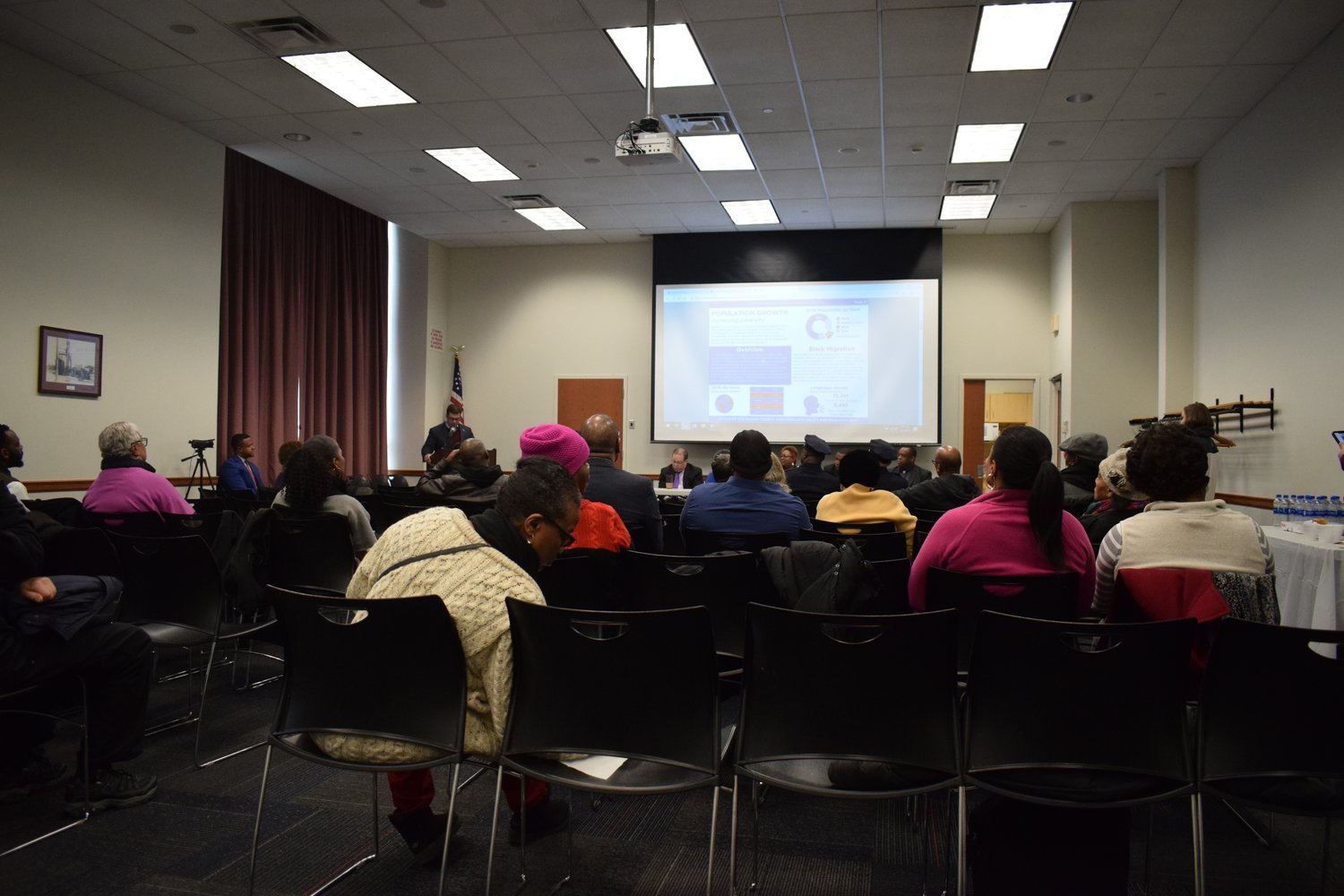 Dozens of local residents came out to the State of Black Nassau County discussion panel on March 2, at the Elmont Memorial Library.