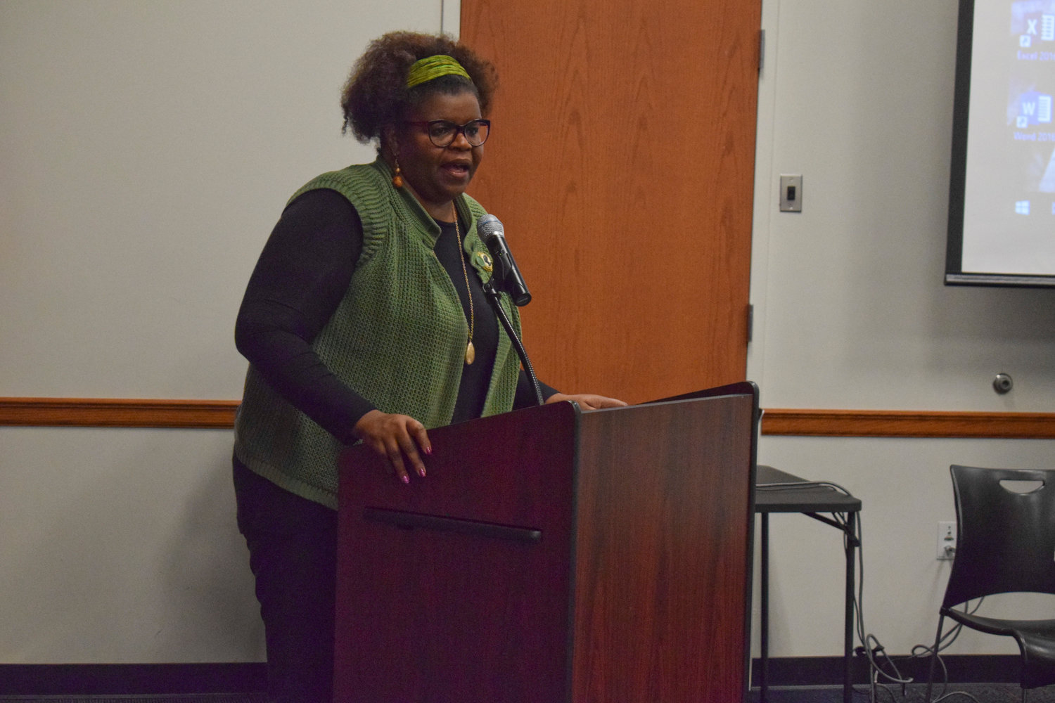 Lisa Newland, President of the Nassau Suffolk Association of Black Social Workers, led the panel discussion revolving around the inequality black residents face throughout Nassau County.