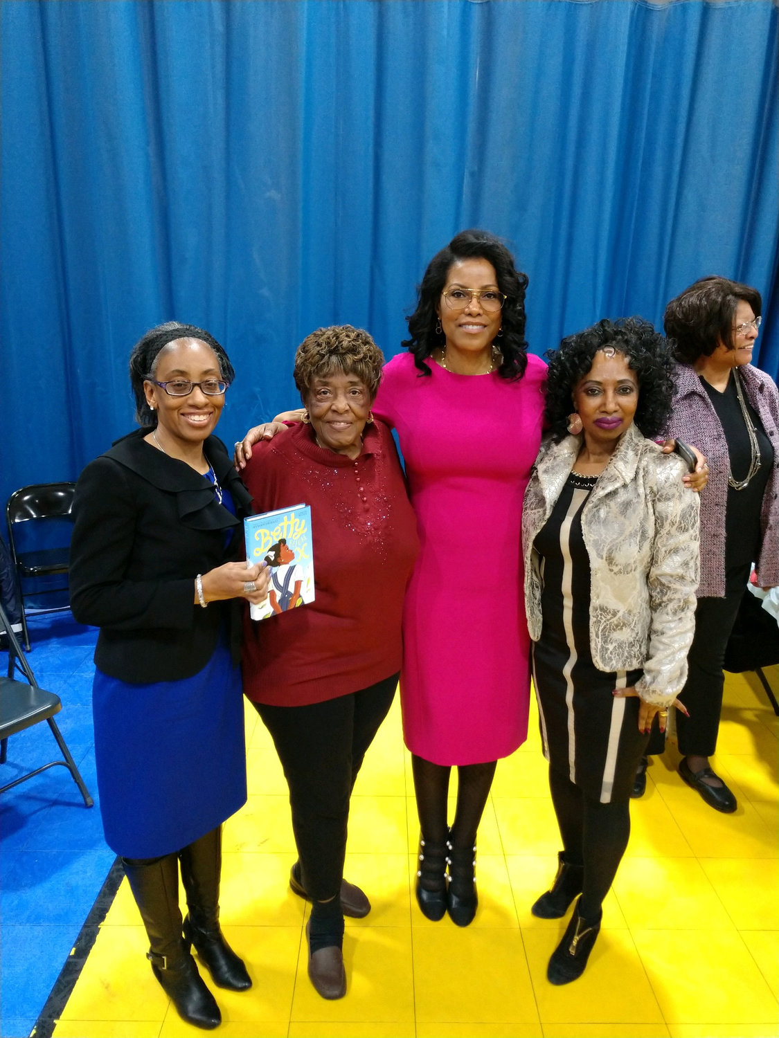 Councilwoman Anissa Moore, left, Jacquetta Odom, Ilyasah Shabazz and Claudia Swansey of the NAACP.