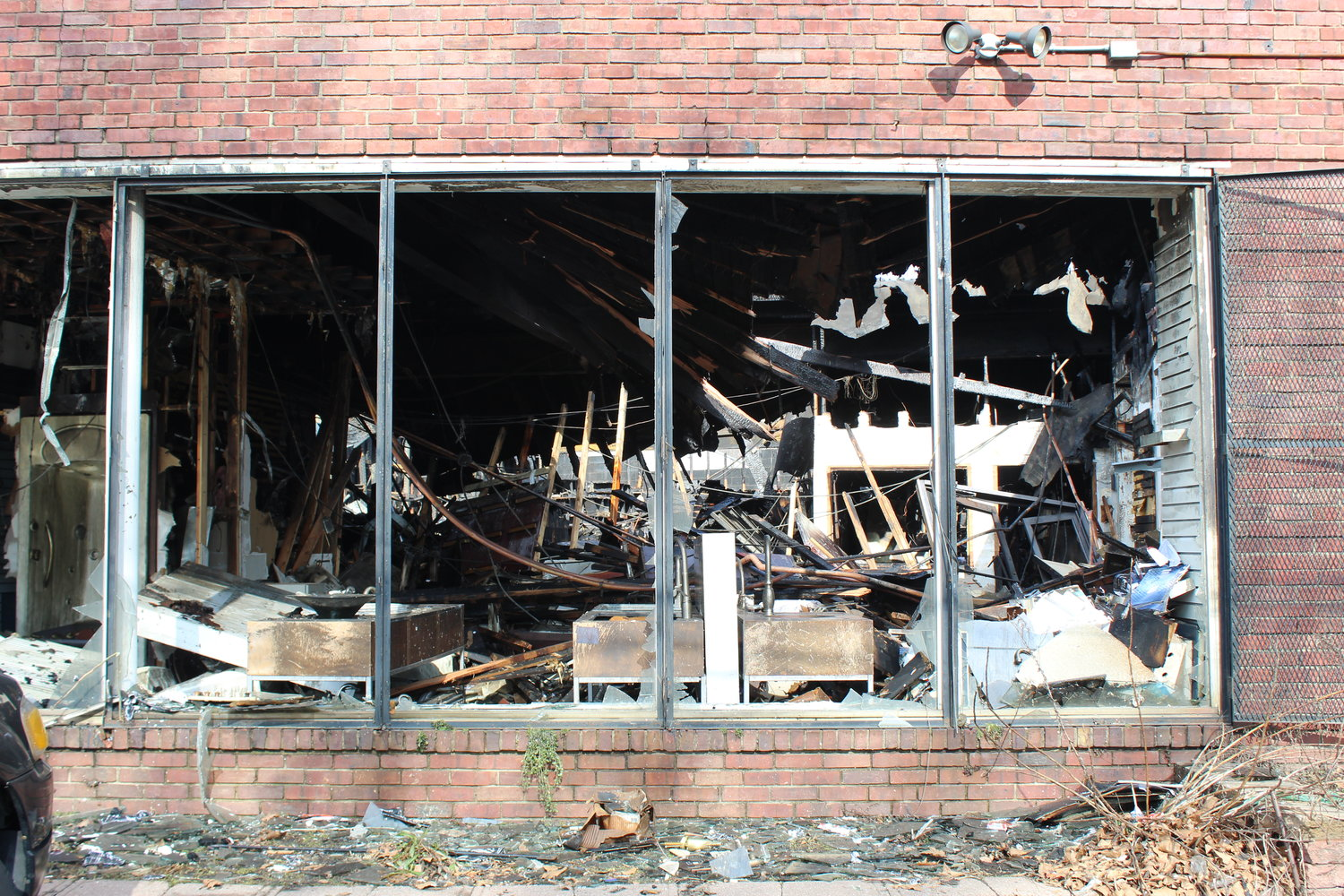 The remains of Cove Plumbing Supply Co.