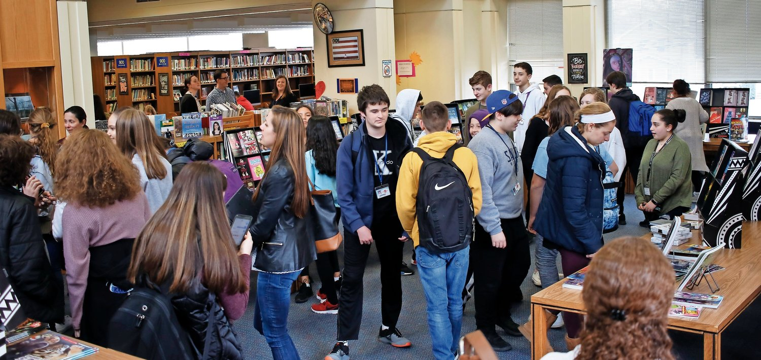 Oceanside High School hosted its inaugural book fair to foster a community of book love on March 6.