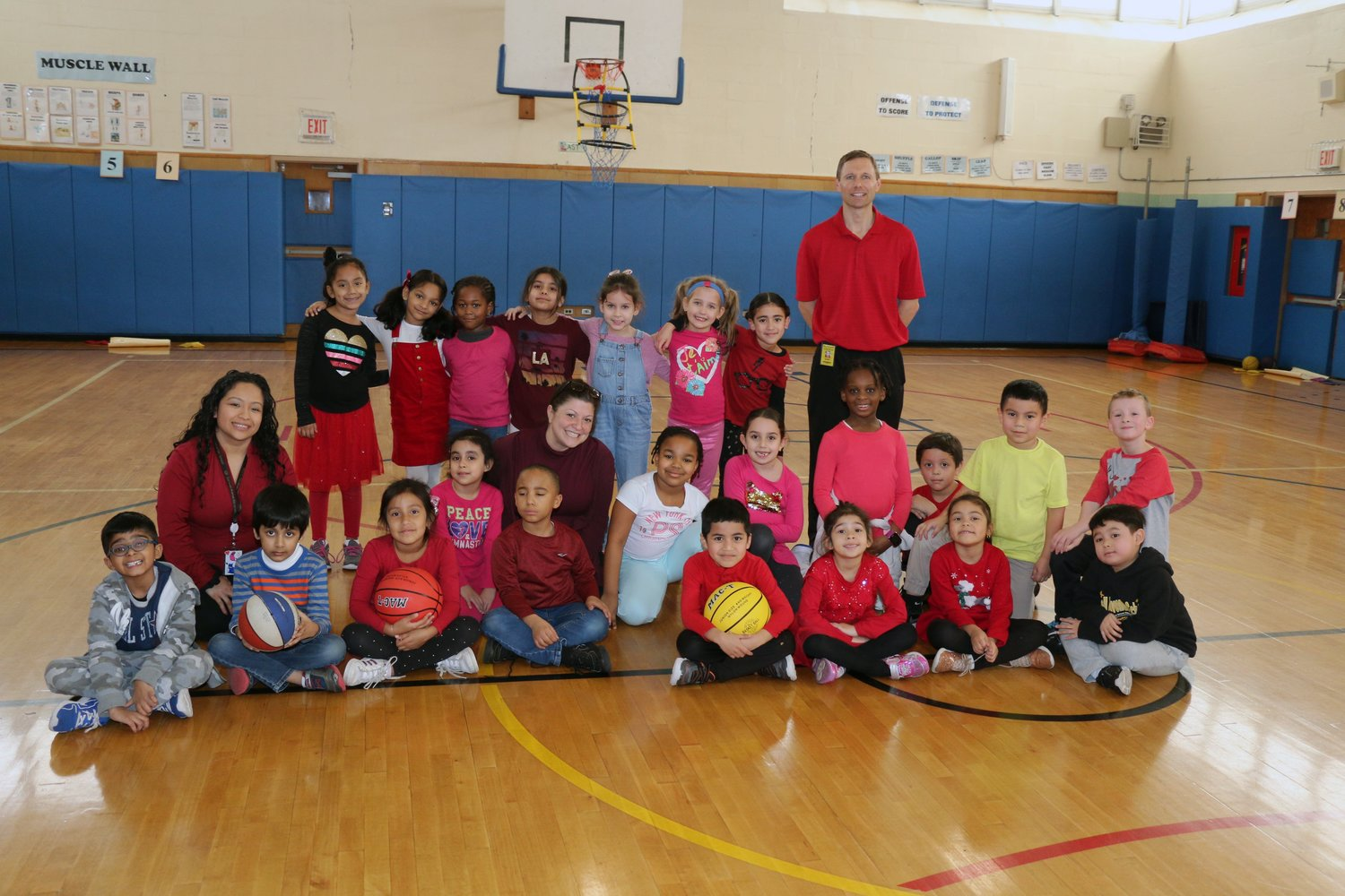 Students at Cornwell Avenue Elementary School celebrated their fundraising efforts for Hoops for Heart during their gym classes on Feb. 27.