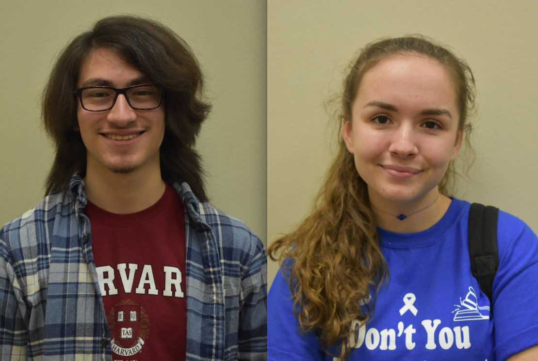 Anthony DeFalco and Alison McWalters were named National Merit Scholarship finalists last month.
