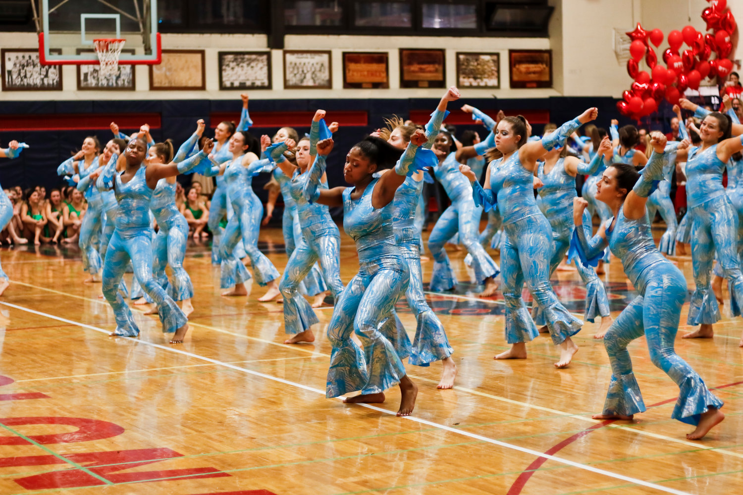 Dressed as water, dancers on Red showed off their moves.
