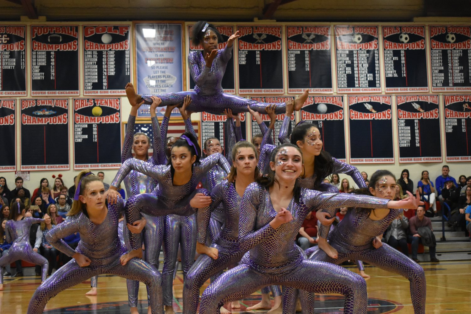The Red Team, which won the dance category, excited the crowd with high-energy routines last Friday and Saturday.