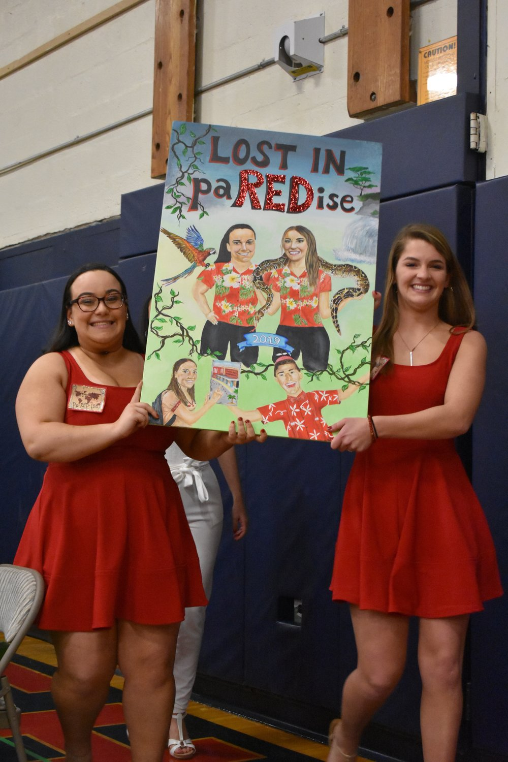 Kopelman and Tighe enveiled the Red team's theme during the competition's first night.