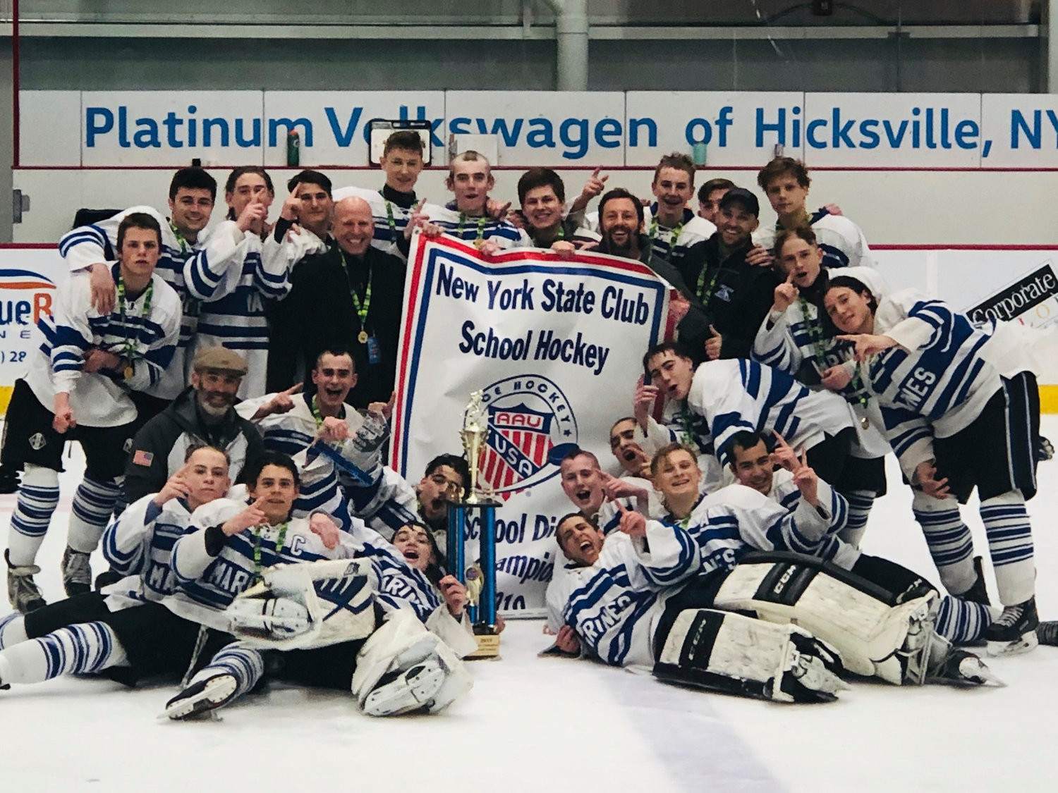 The Marines captured the New York State AAU ice hockey championship on March 3.