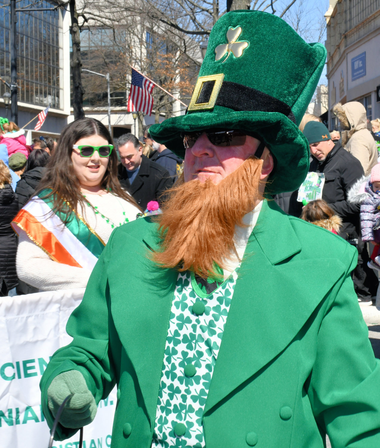 Patsy Furlong has led the St. Patrick's Day Parade in Glen Cove as the leprechaun since 2004.