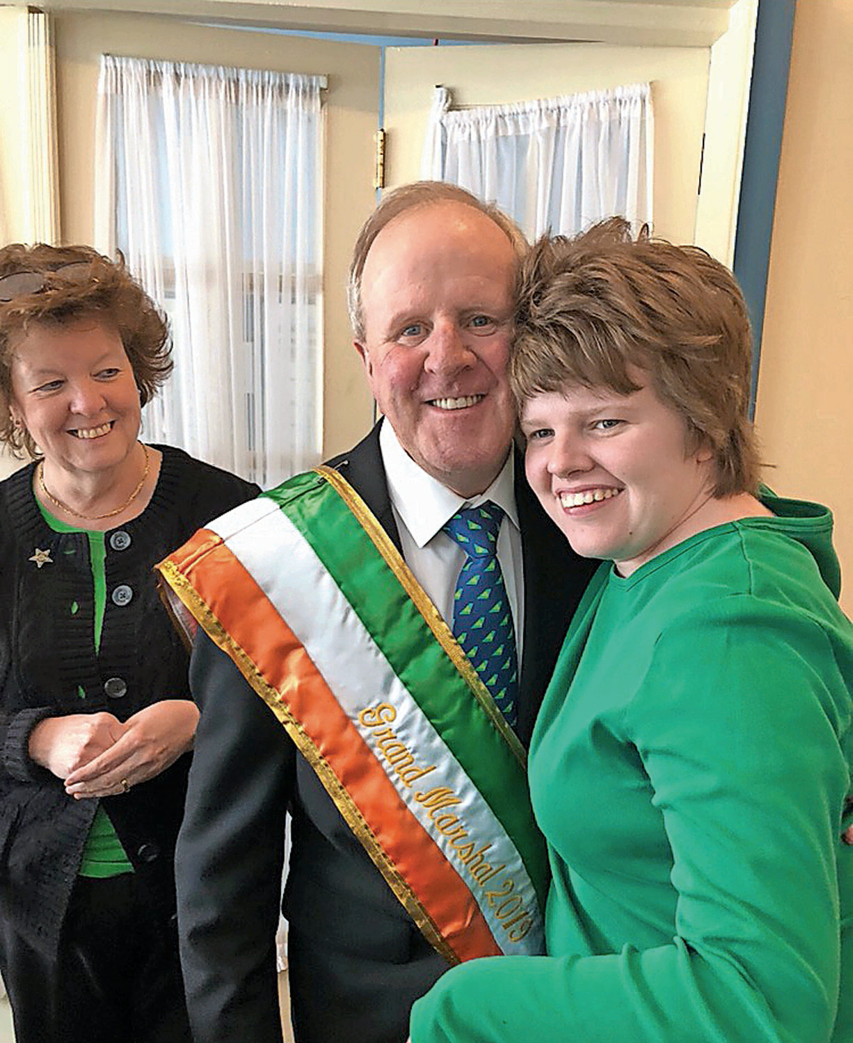 Furlong's wife, Nancy, left, and daughter, Emily, said they are both excited to see him lead the St. Patrick's Day Parade as the Grand Marshal.