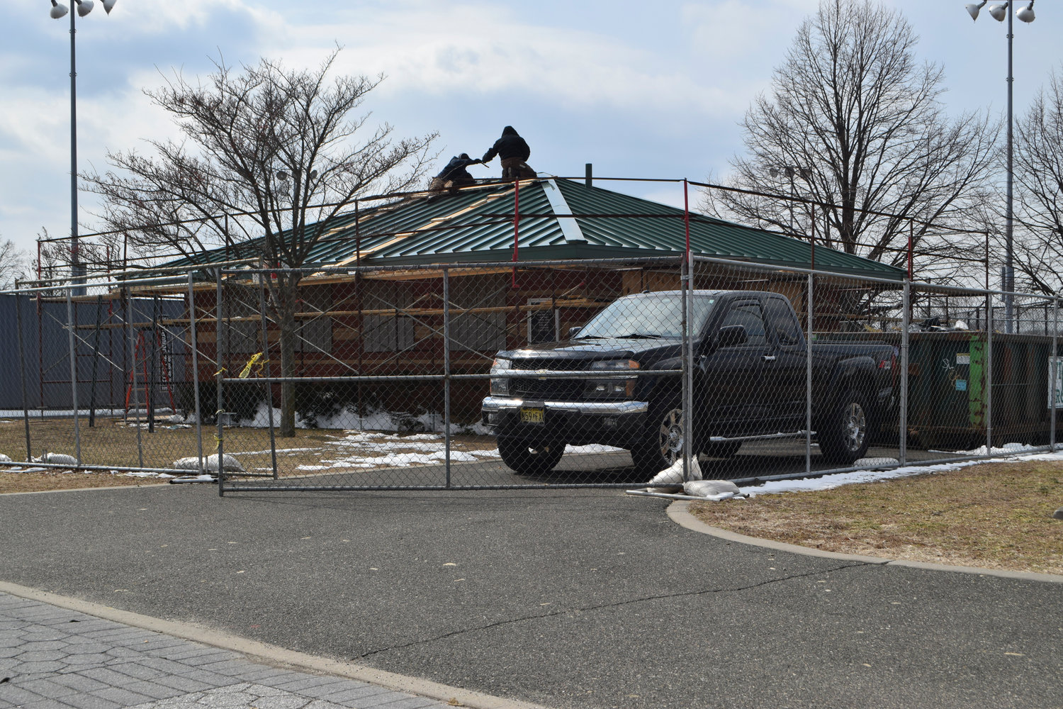 The Inwood Park administration building is being repaired and expected to be ready for the summer season.