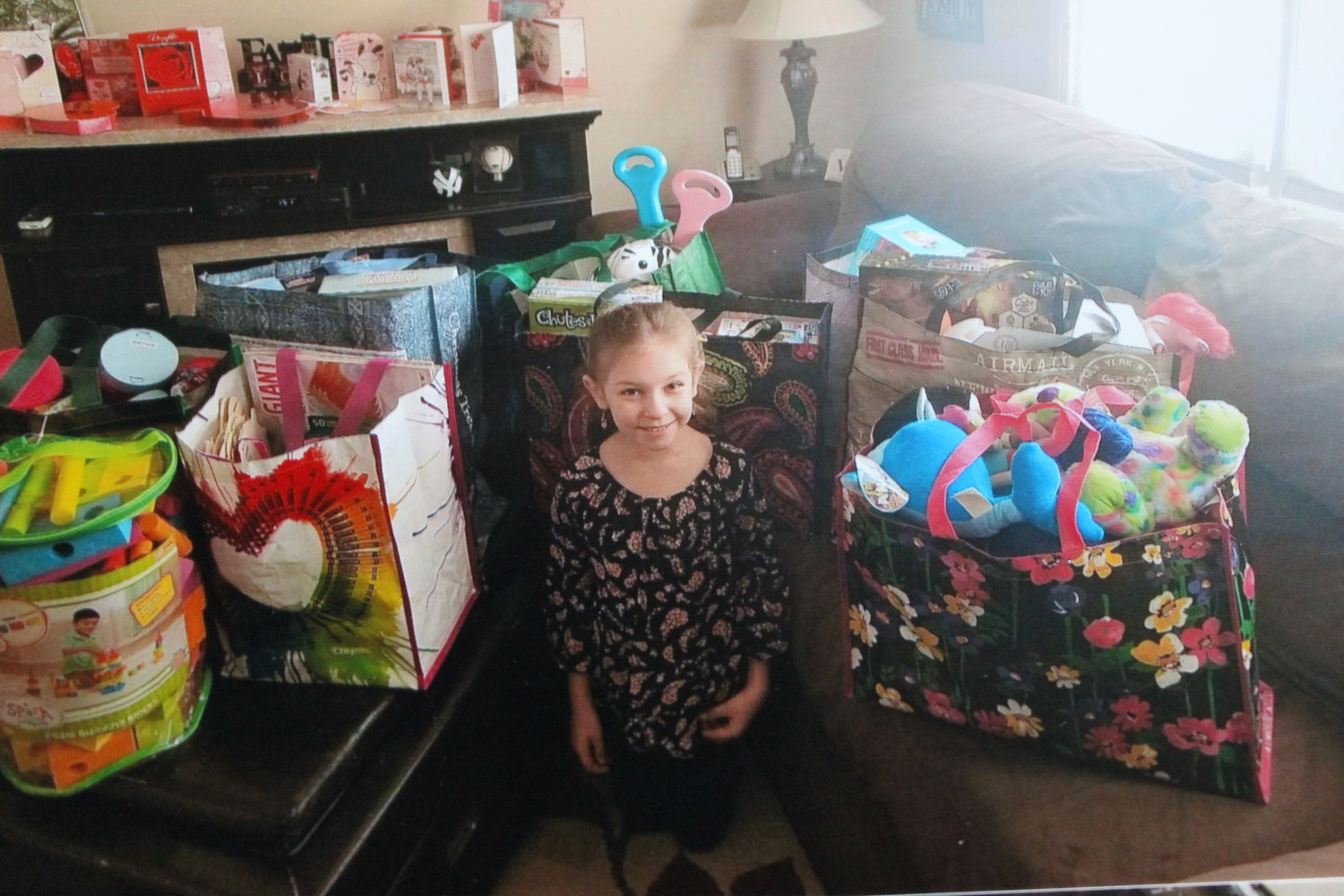 Emma Vulpi, 7, of East Meadow, recently went on a shopping spree with her birthday money and donated all her purchases to the Child Life Program at NYU Winthrop Hospital in Mineola.