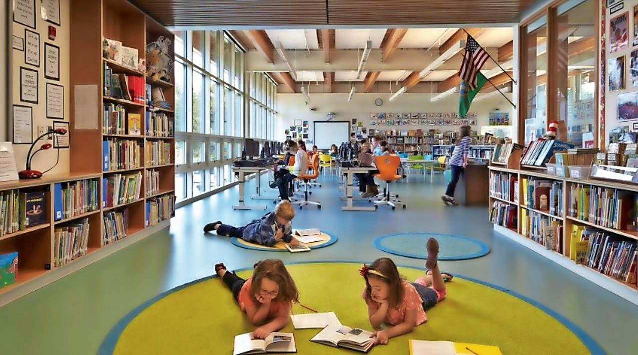 A new elementary-level library could include instructional spaces for both traditional and digital learners.
