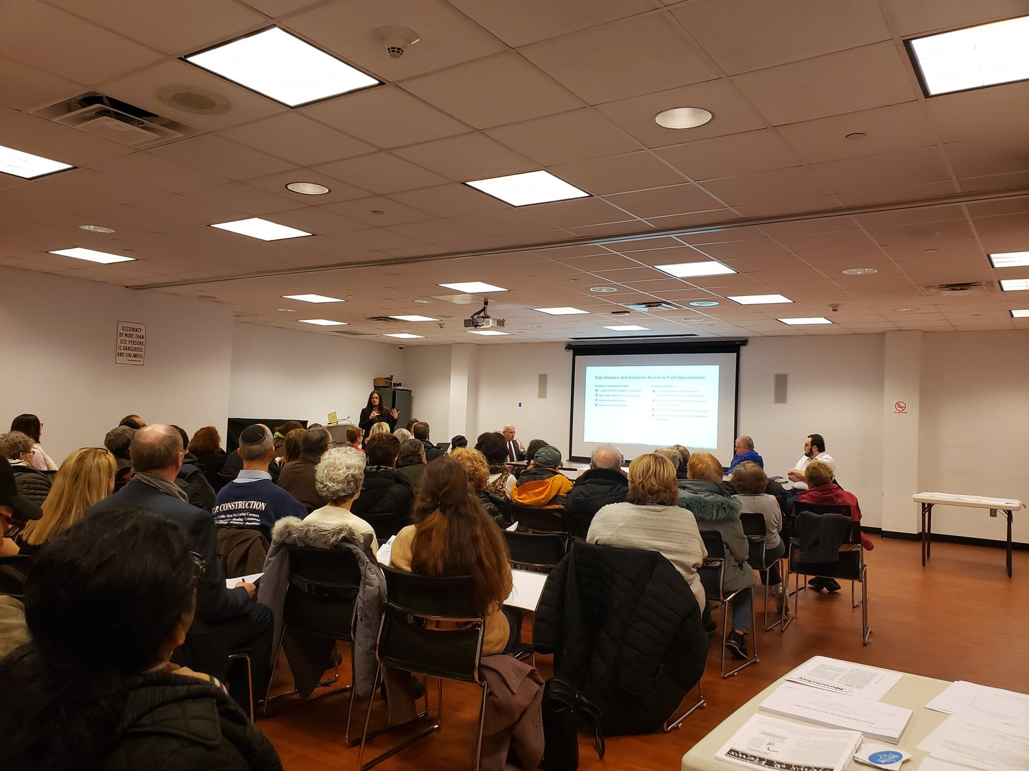 Roughly 50 residents gathered at the West Hempstead Library's community room for a discussion about water quality on March 4.