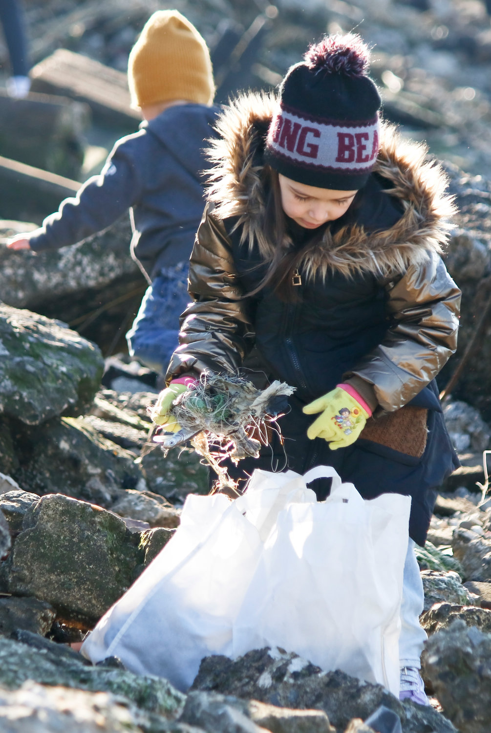 Cailin Roach, 5, volunteered with Surfrider for the first time.