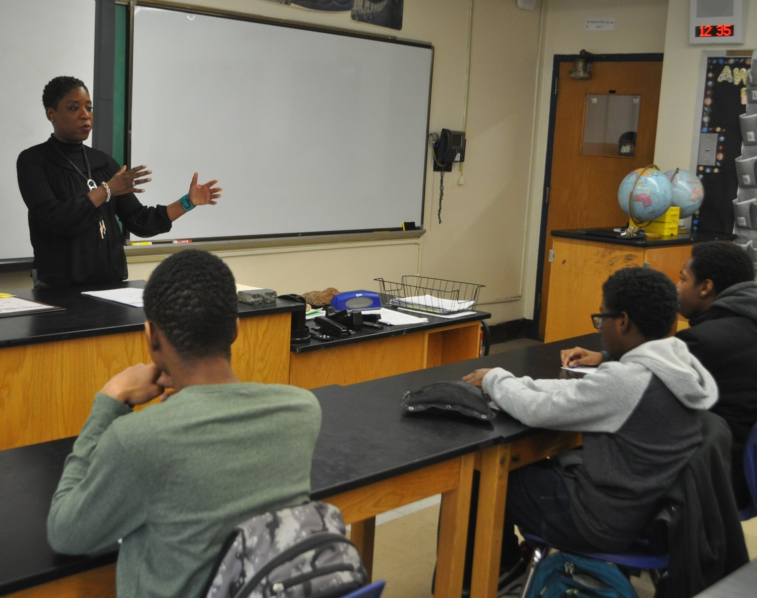 Nassau County Legislator Siela Bynoe spoke to students in the Malverne School District on Feb. 27.