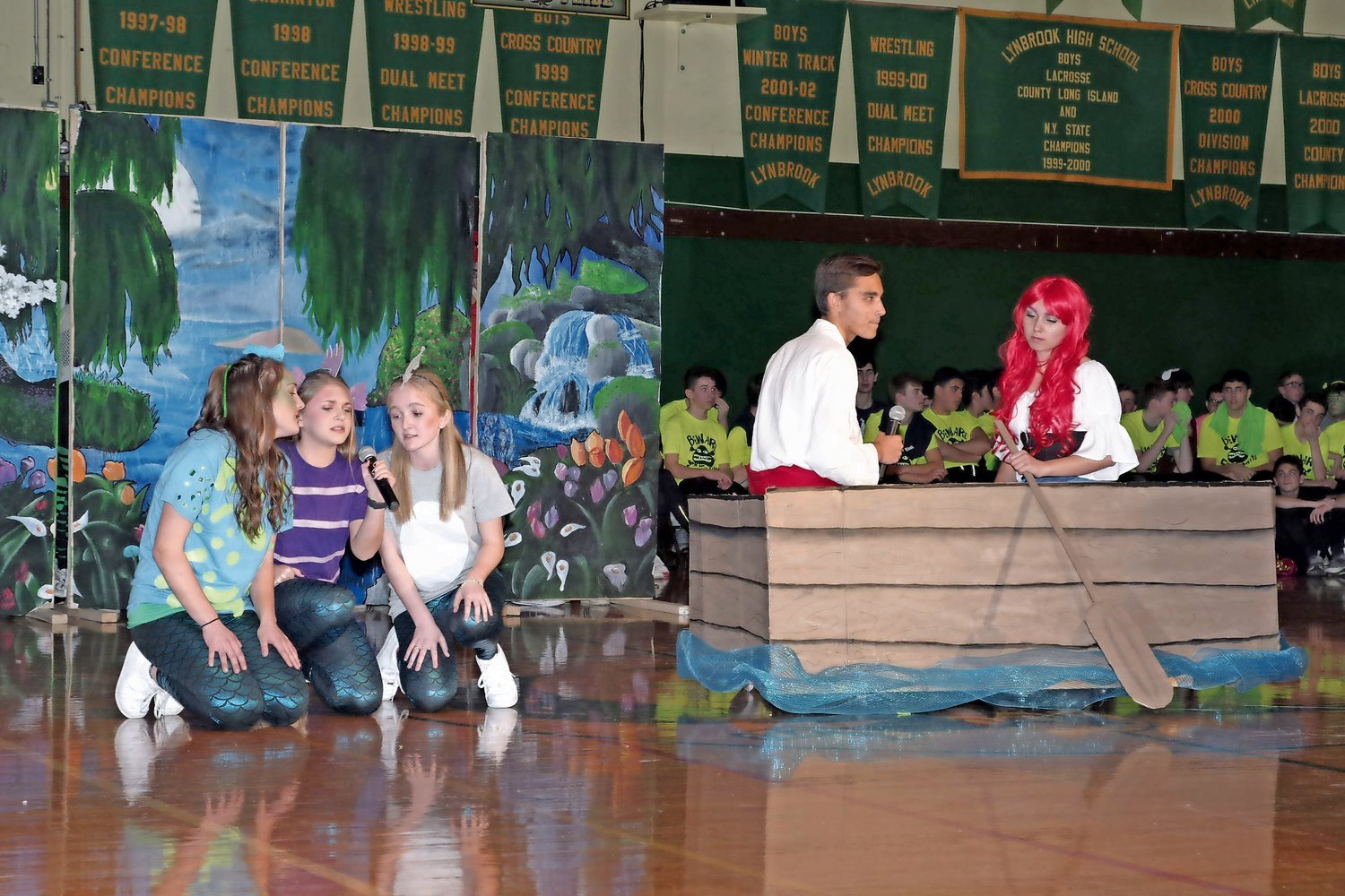 "Juniors Kayleigh Stalter, left, Kaylin Tephly, Caroline Ridings, Ethan Renz and Kara Vito performed ""The Little Mermaid."""
