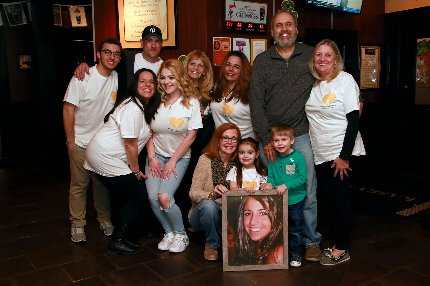 Gina Giallombardo's family members gathered at the 10th annual Life For Gina fundraiser.