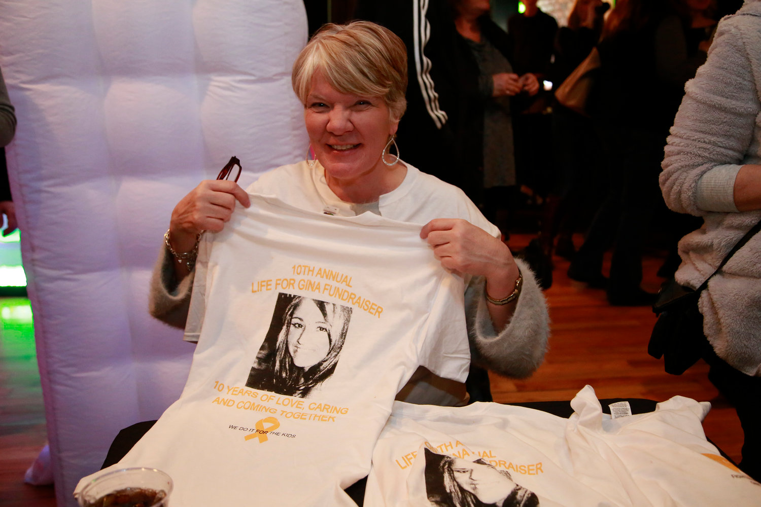 Irene Volk sold Gina T-shirts throughout the afternoon.